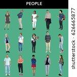 various of diversity people... | Shutterstock . vector #626665877