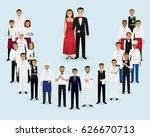 restaurant team. group of... | Shutterstock .eps vector #626670713