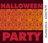 "banner ""halloween party"" with... 