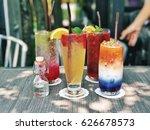 beverage fruit juice ice... | Shutterstock . vector #626678573