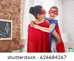mother and her child playing... | Shutterstock . vector #626684267