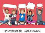children smiling happiness... | Shutterstock . vector #626690303