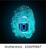 dark blue abstract digital...   Shutterstock .eps vector #626690867
