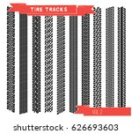 set tire tracks vol. 2 vector... | Shutterstock .eps vector #626693603