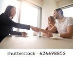side bottom view of friendly... | Shutterstock . vector #626698853