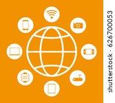 internet icon | Shutterstock .eps vector #626700053