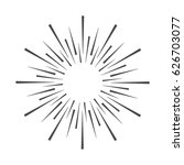 linear drawing of rays of the... | Shutterstock .eps vector #626703077