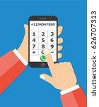 businessman touching buttons...   Shutterstock .eps vector #626707313