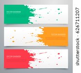 abstract ink splatter banners... | Shutterstock .eps vector #626711207