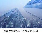 double exposure  luxury modern... | Shutterstock . vector #626714063