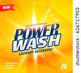 creative yellow detergent... | Shutterstock .eps vector #626717903