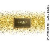 golden glitter on white... | Shutterstock .eps vector #626718383