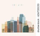 transparent style. san jose... | Shutterstock .eps vector #626720153