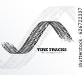 grunge black tire tracks on... | Shutterstock .eps vector #626722337