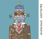 cartoon office robot. funny... | Shutterstock .eps vector #626726783