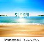 vector seascape with beach ... | Shutterstock .eps vector #626727977