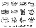 set of retro vintage badges and ... | Shutterstock .eps vector #626728337