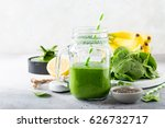 healthy green smoothie with...   Shutterstock . vector #626732717