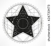 star with universe sacred... | Shutterstock .eps vector #626733473
