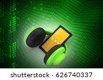 3d illustration of cell phone...   Shutterstock . vector #626740337