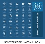 seo development icon set clean... | Shutterstock .eps vector #626741657