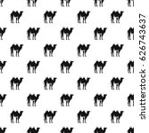camel pattern seamless in... | Shutterstock .eps vector #626743637