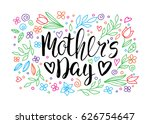happy mother's day card.... | Shutterstock .eps vector #626754647