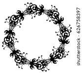 mandala. vintage decorative... | Shutterstock .eps vector #626758397