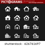 house type icon set for web