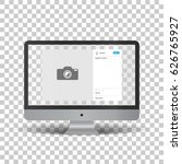 monitor with social network... | Shutterstock .eps vector #626765927