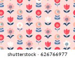 seamless floral pattern | Shutterstock .eps vector #626766977