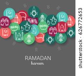 ramadan kareem background. eid... | Shutterstock .eps vector #626772653