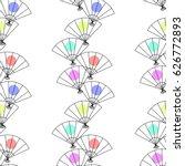 seamless pattern from japanese... | Shutterstock .eps vector #626772893