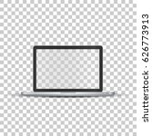 laptop without screen on... | Shutterstock .eps vector #626773913