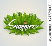 summer sale inscription banner... | Shutterstock .eps vector #626774867