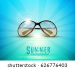 vector sunglasses in the sun ... | Shutterstock .eps vector #626776403