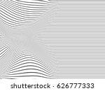 abstract line art   black lines ... | Shutterstock .eps vector #626777333