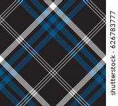 black check seamless fabric... | Shutterstock .eps vector #626783777