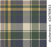 green blue classic check plaid... | Shutterstock .eps vector #626783813