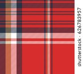 red plaid fabric texture... | Shutterstock .eps vector #626783957