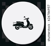 retro scooter icon. | Shutterstock .eps vector #626786957
