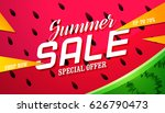 summer sale background with... | Shutterstock .eps vector #626790473