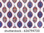 ancient ottoman patterned tile...   Shutterstock . vector #626794733
