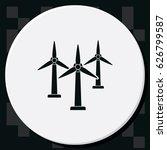 wind electricity generators...   Shutterstock .eps vector #626799587