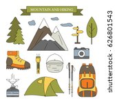 Hiking And Outdoor Elements Se...