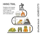hiking trail. vector travel... | Shutterstock .eps vector #626801573