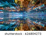 city skyline abstract... | Shutterstock . vector #626804273