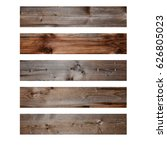 various wooden boards old... | Shutterstock . vector #626805023