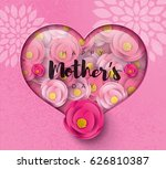 happy mother's day calligraphy... | Shutterstock .eps vector #626810387