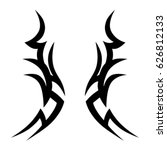 tattoo sketch tribal vector... | Shutterstock .eps vector #626812133